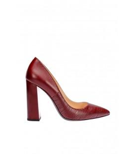 İnci Bordo Kadın Klasik Topuklu Ayakkabı 4363 120130002955