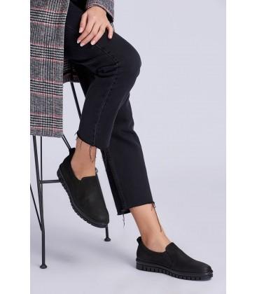 İnci Hakiki Deri Siyah Kadın Klasik Ayakkabı 6628 120130008514