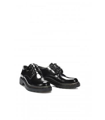 İnci Siyah Kadın Oxford Ayakkabı 6846 120130008868