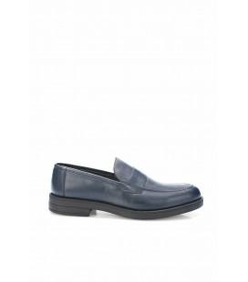 İnci Hakiki Deri Lacivert Erkek Loafer Ayakkabı 6875 120130008899