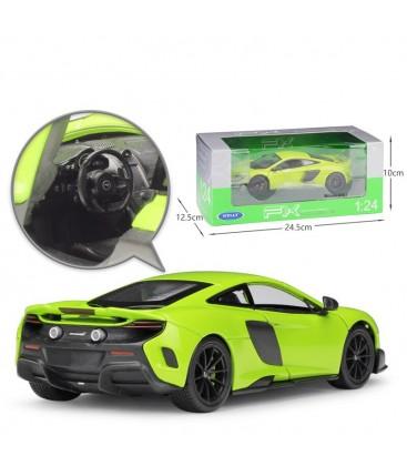 Welly 1/24 Mclaren 675LT Yeşil Metal Model Oyuncak Araba