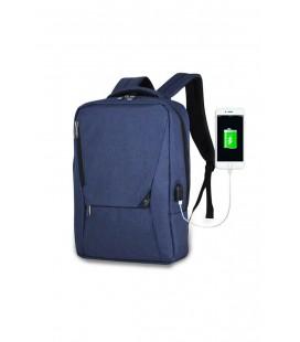 My Valice Unisex Active Usb Şarj Girişli Slim Notebook Sırt Çantası Lacivert Mv0096