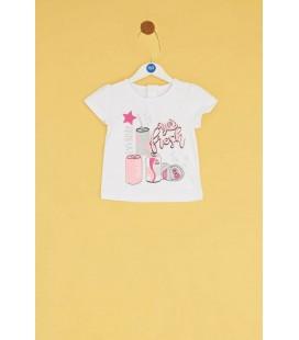 BG Baby Kız Bebek Beyaz T-shirt 20SS0BG2510