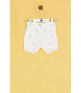 BG Baby Kız Bebek Beyaz Şort 20SS0BG2106