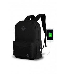 My Valice Smart Bag Specta Usb Şarj Girişli Akıllı Sırt Çantası Siyah MV8664