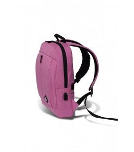 My Valice Smart Bag Galaxy Usb Şarj Girişli Notebook Sırt Çantası Pembe MV2839