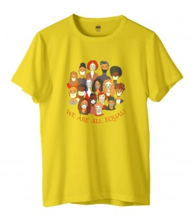 Zhoppers We Are All Equal Sarı Tasarım T-Shirt S