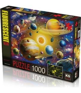 Ks Games 1000 Parça Solar System Puzzle Gece Parlayan Neon