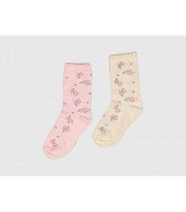 Socksmax Multi Kız Çocuk 2Li Çorap 8020909710