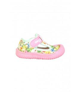 Gezer  Renkli Cırtlı Yazlık Kız Çocuk Sandalet Deniz Ayakkabı 03041