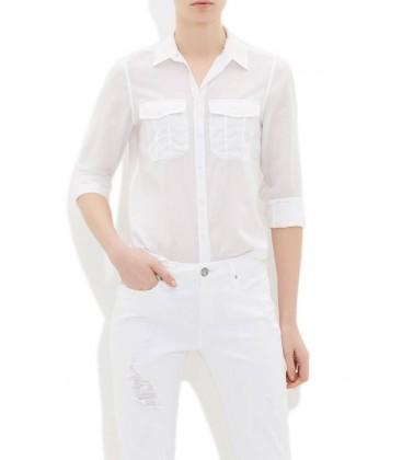 Mavi Cepli Beyaz Gömlek 120960-620
