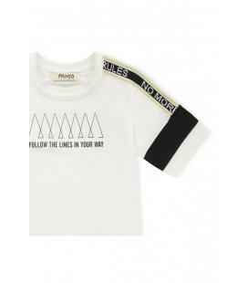 Panço Erkek Çocuk Beyaz T-shirt 2111bk05029