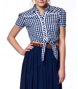 Koton Kadın Lacivert Gömlek 4YAL66847OW 07W