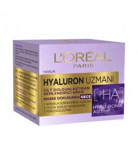 L'Oréal Paris Hyaluron Uzmanı Cilt Dolgunlaştıran Nemlendirici Gece Kremi 50ml