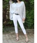 Zuzu Yüksek Bel Gabardın Pantolon Beyaz 17Y71001