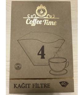 Coffee Time 4 Numara Kahve Filtre Kağıdı 40lı Paket