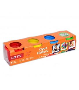 Lets L8240 4 Renk Oyun Hamuru 300 Gr.