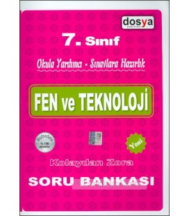 7. Sınıf Fen ve Teknoloji Kolaydan Zora Soru Bankası Dosya Yayınları