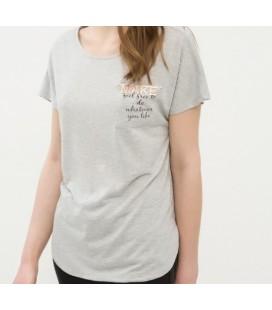 Koton Kadın Grey T-shirt 6YAK18232GK