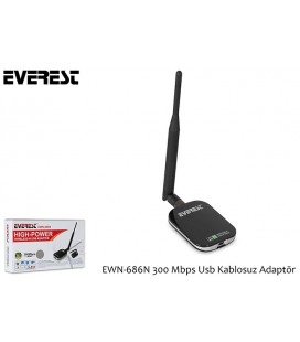 Everest EWN-686N 300Mbps Wireless-N Usb Adaptör