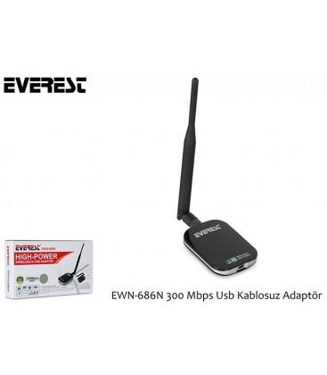 Everest EWN-686N 300Mbps Wireless-N Usb Adaptör