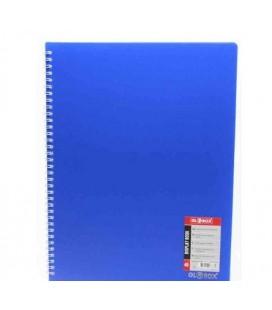 Globox 6888 Spiralli Sunum Dosyası Mavi 40'lı