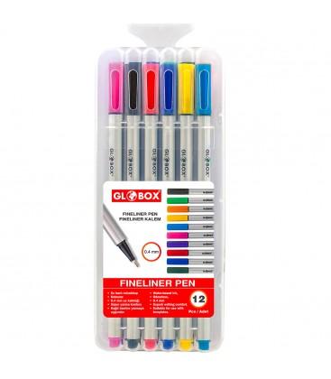 Globox Keçeli Kalem 12'li Fineliner Pen
