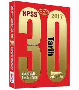 KPSS 2017 Tarih Tamamı Çözümlü 30 Deneme Yediiklim Yayınları
