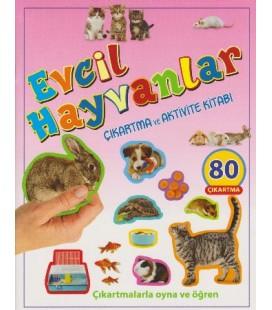 Evcil Hayvanlar Çıkartma ve Aktivite Kitabı