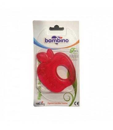 Bambino Figürlü Soğutuculu Diş Kaşıyıcı - Kırmızı P0658