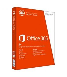 Microsoft Office 365 Ev 32/64 Türkçe 1 Yıl DVD'siz (6GQ-00190)