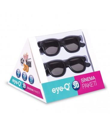 EYE-Q 5'li Sinema Paketi (2 adet 1.4 versiyon 1,5 m HDMI altın uçlu kablo+2 adet 3D gözlük+1 adet optik kablo