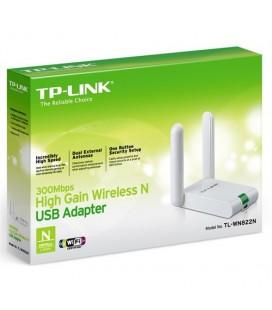 TP-LINK TL-WN822N 300 Mbps N Kablosuz 2x3dBi Antenli USB Uzatma Kablolu Yüksek Kazanımlı USB Adaptör