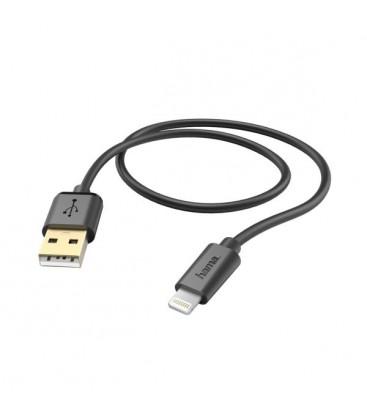 7 Hama Black Iphone USB cable 1.5 m