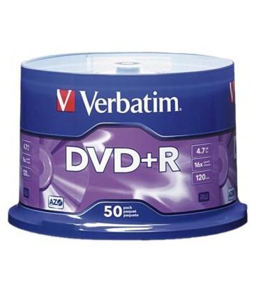 Verbatim DVD-R 4.7GB 16X Hızında 50'li 43550