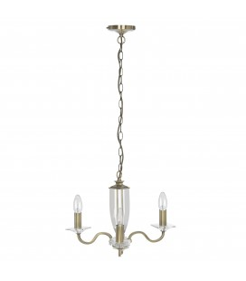 LAURA ASHLEY Pirinç 3 Kollu Avize Carson Antique Brass 3-Arm Chandelier