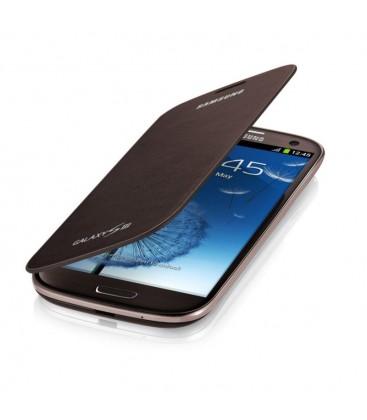 Flip Cover Samsung Galaxy S3, S3 Neo EFC-1G6FA Brown Kapaklı Kılıf