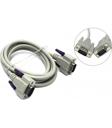 Hama VGA Monitör Kablosu, korumalı, 1,80 m
