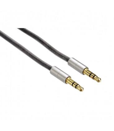 "Hama ""AluLine"" Bağlantı Kablosu, 3,5 mm Priz, Fiş, Stereo, 2 m"