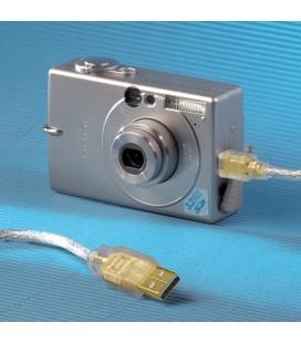 Hama Mini USB 2.0 Kablo, altın kaplama, çift korumalı, 1,80 m, şeffaf 00041533