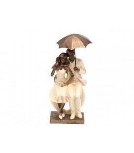 Biev Şemsiyeli Çift Biblo KNT078