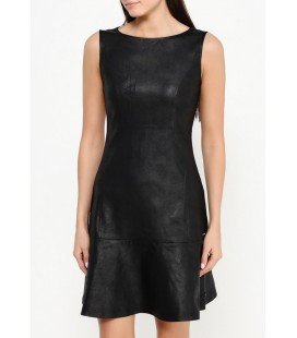 Calvin Klein Jeans Elbise Damen Kleid Donna A-Line Coated Milano Sleeveless