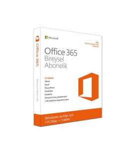 Microsoft Office 365 Bireysel - 1 yıllık abonelik - 1 kullanıcı - PC/MAC