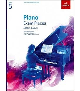 Grade 5  Piano Exam Pieces Abrsm Grade 5 - 2017 & 2018